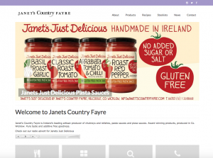 Website for Janets Country Fayre